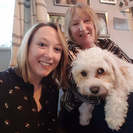 Christmas Photo of Me, Mum and Daisy