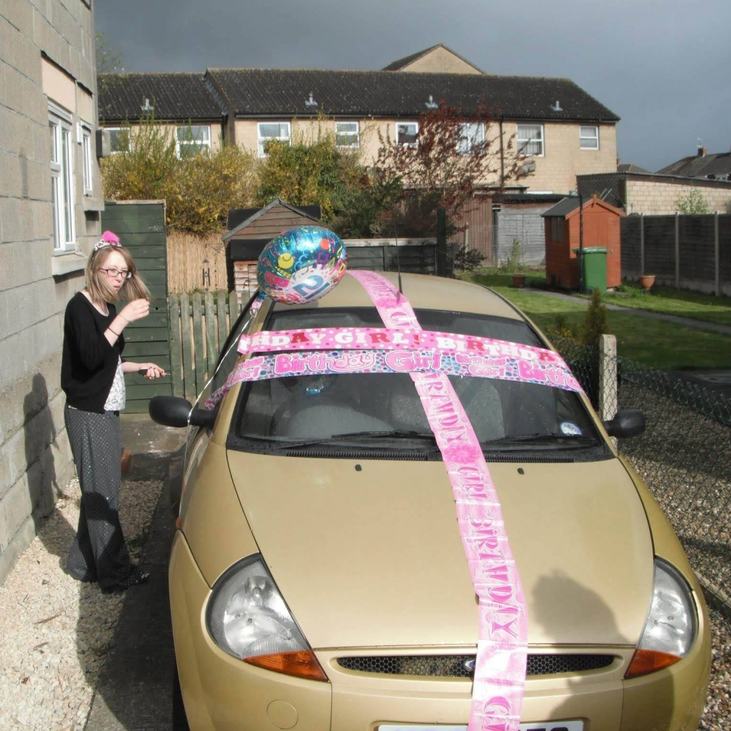 Me on My 21st Birthday with My First Car