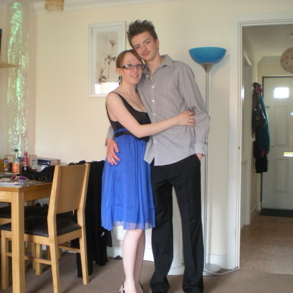 Me & Liam Before the Sixth Form Leavers Party - June 2010