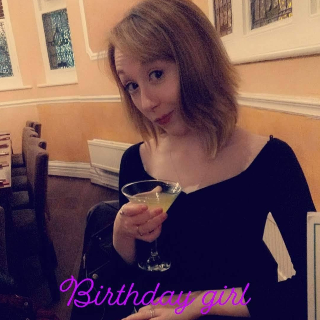 Me with my Free Birthday Limoncello - May 2019
