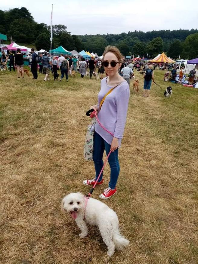 Me with Daisy at DogFest 2019
