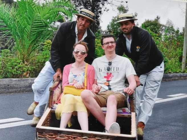 Riding Toboggans in Madeira