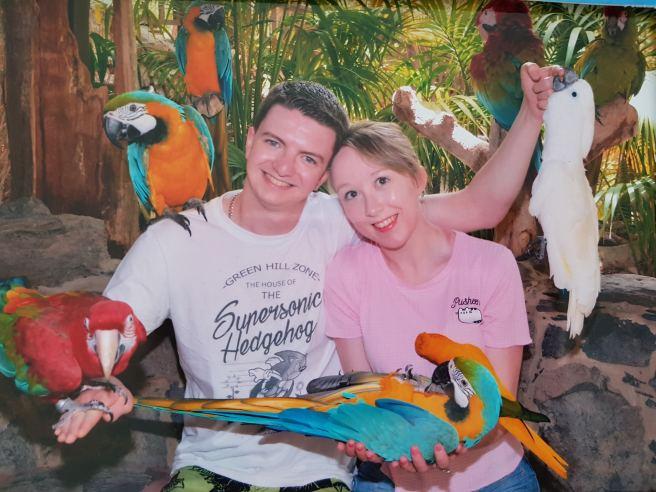 Parrots at Palmitos Park