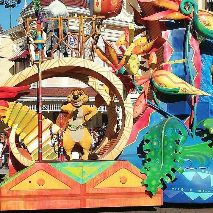 Timon on His Float