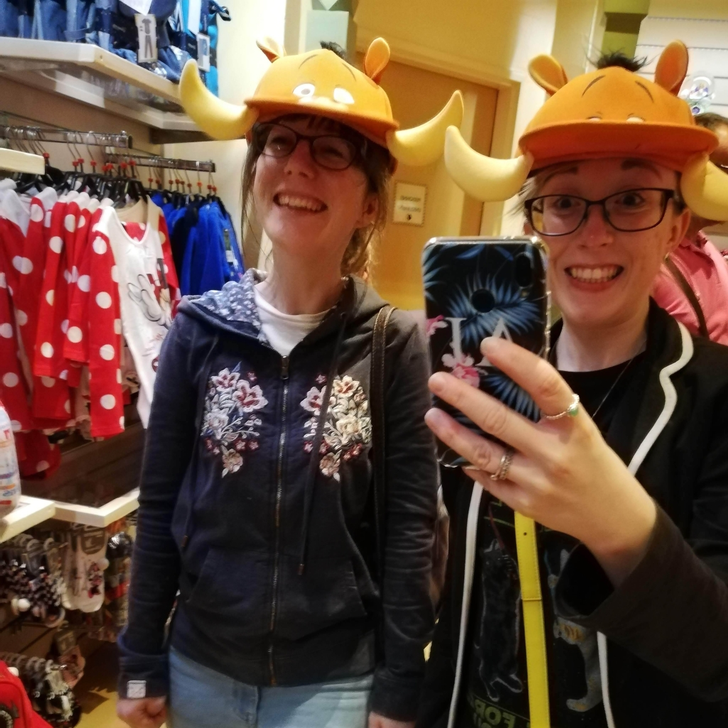 Trying on Disney Hats