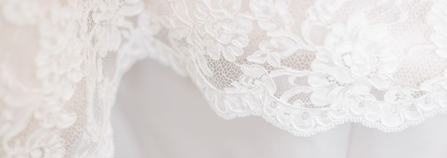 Lace on Wedding Dress