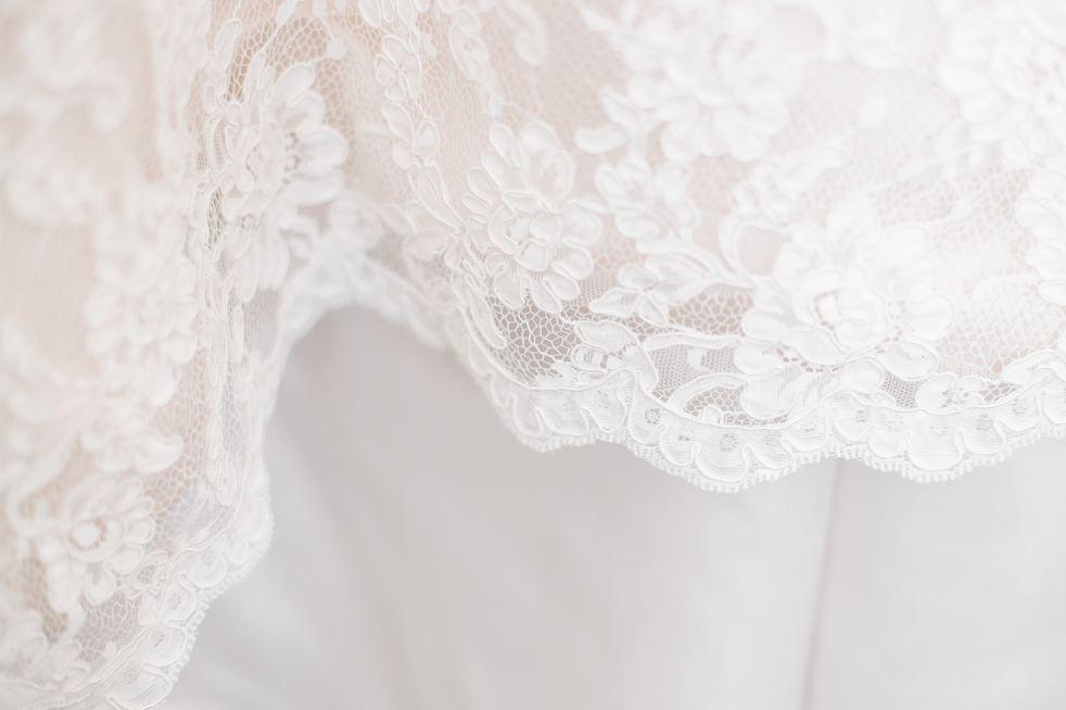 Lace on Wedding Dress