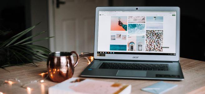 Blogger Laptop on Desk