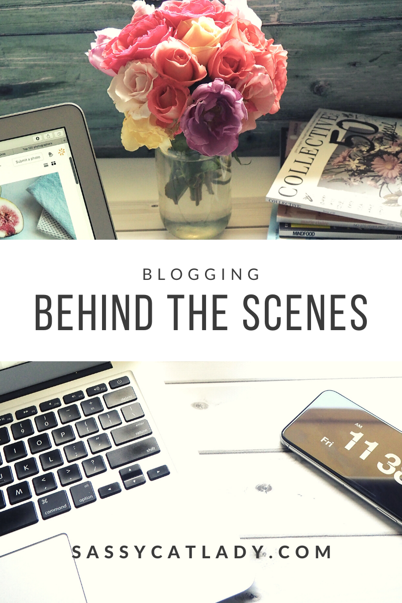 Blogging Behind the Scenes Graphic
