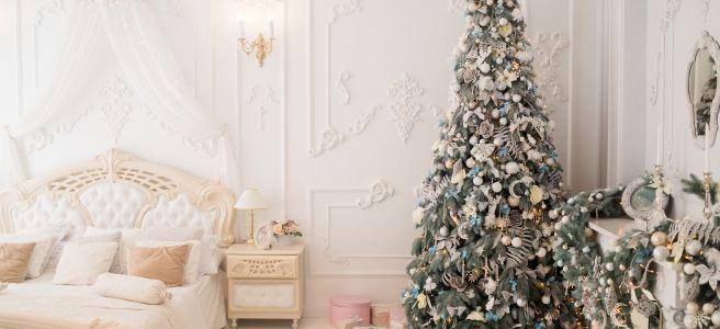 Fancy Christmas Tree in Bedroom