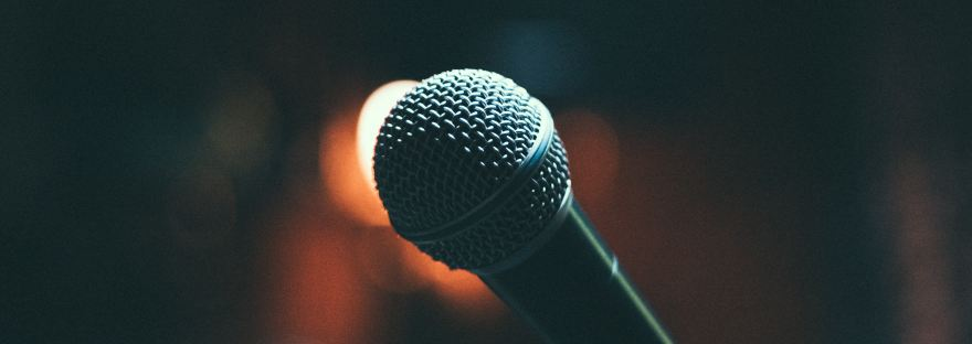 Comedy Microphone on Stage