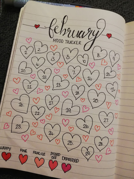 My February Mood Tracker