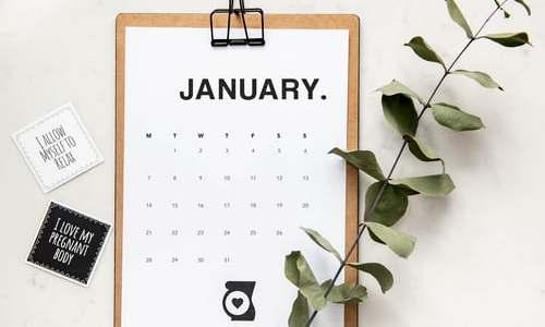 January Flatlay
