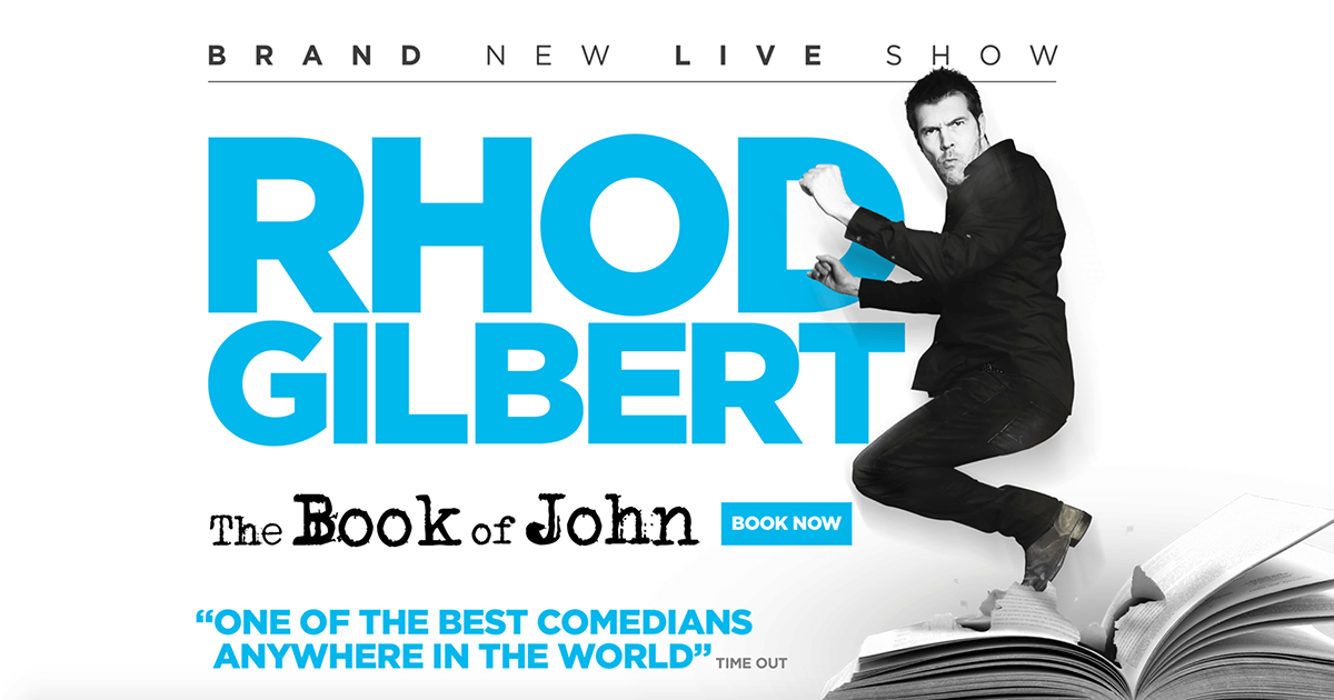 Rhod Gilbert: The Book of John Tour Poster