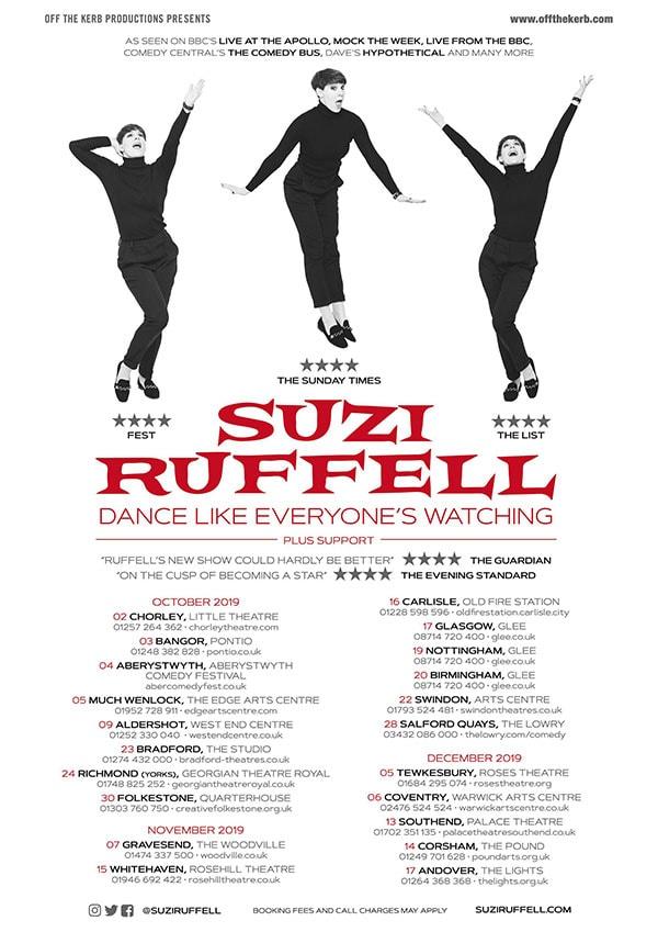 Suzi Ruffell: Dance Like Everyone's Watching Tour Poster
