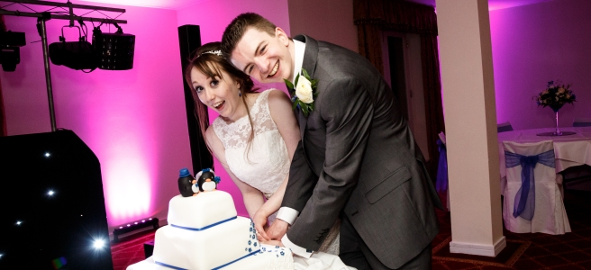 Me and Liam with our Wedding Cake - October 2015