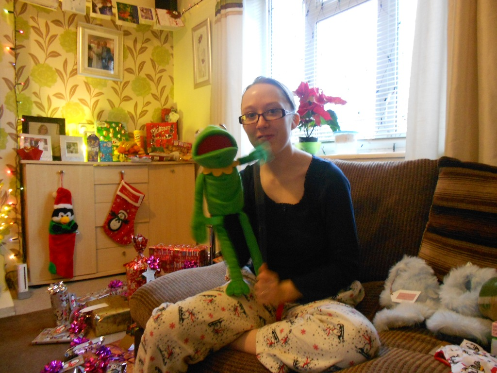 Me with my Kerms Puppet - Christmas Day 2012