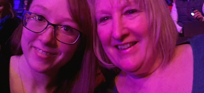 Me and Mum in Our Seats at the Michael Bublé Concert