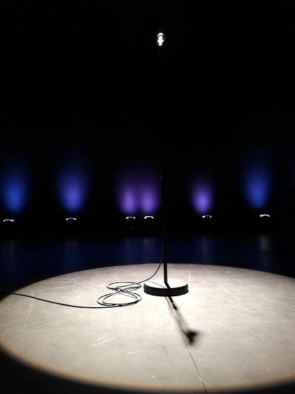 Our front row view for Josh Widdicombe.