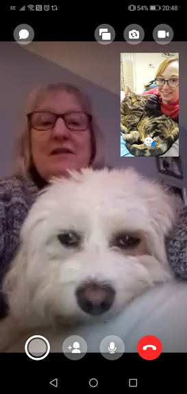 Family FaceTime with Mum & Daisy