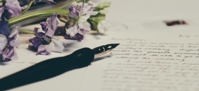 Letter and Flowers