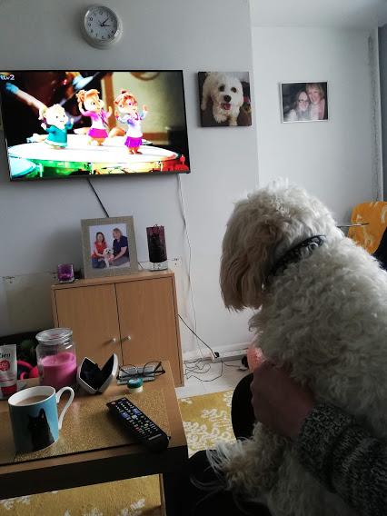 Daisy Watching Alvin & the Chipmunks