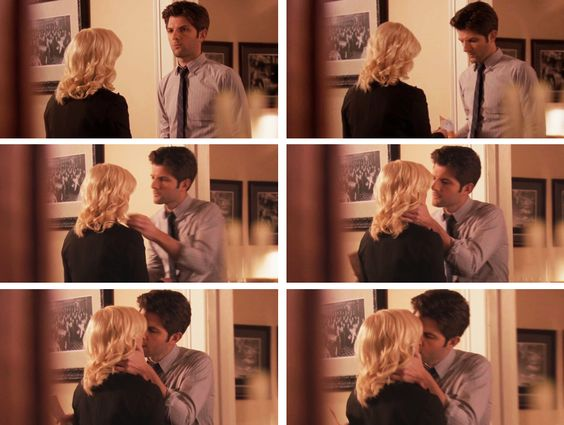 Parks & Recreation - The screen shots running up to Ben and Leslie's first kiss.