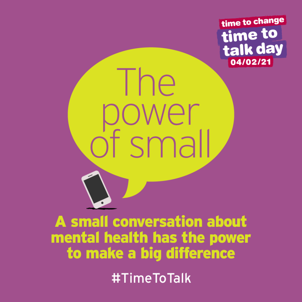 Time to Talk Day 2021 Instagram graphic