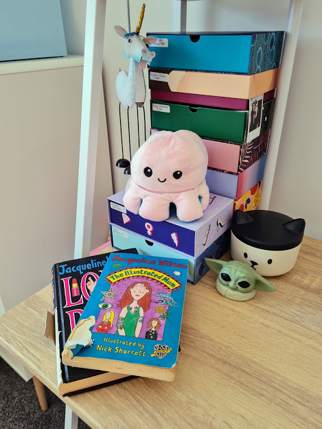 Jacqueline Wilson Books on My Desk