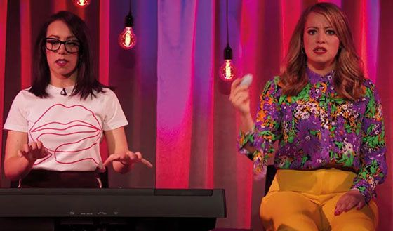 Flo & Joan Performing On Stage