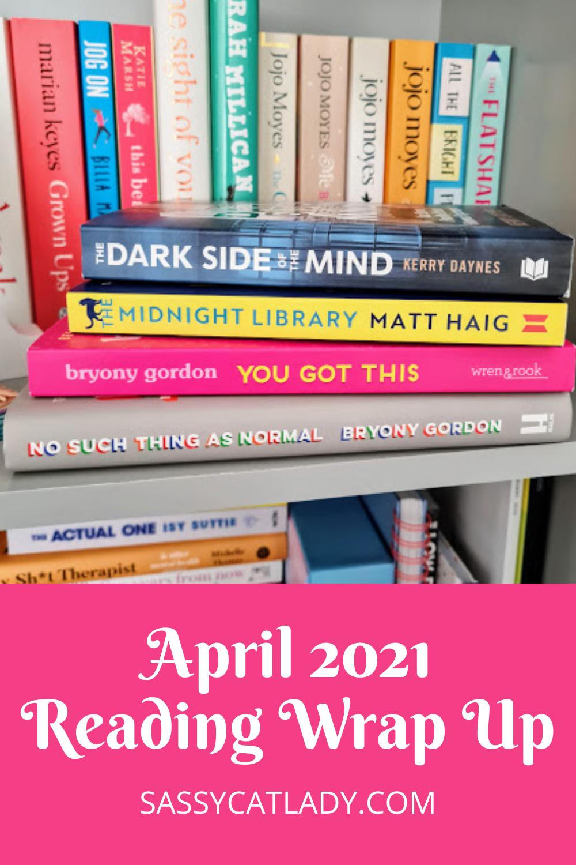April 2021 Reading Wrap Up Pinterest Graphic