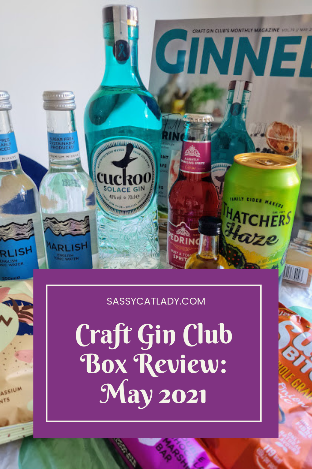 Craft Gin Club Box Review - May 2021 Pinterest Graphic