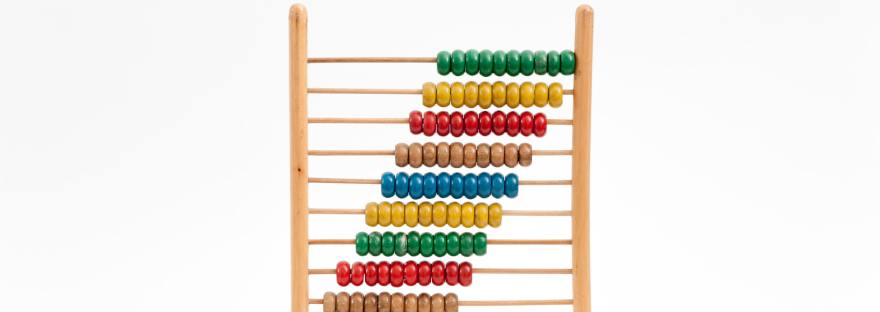 Abacus against white background