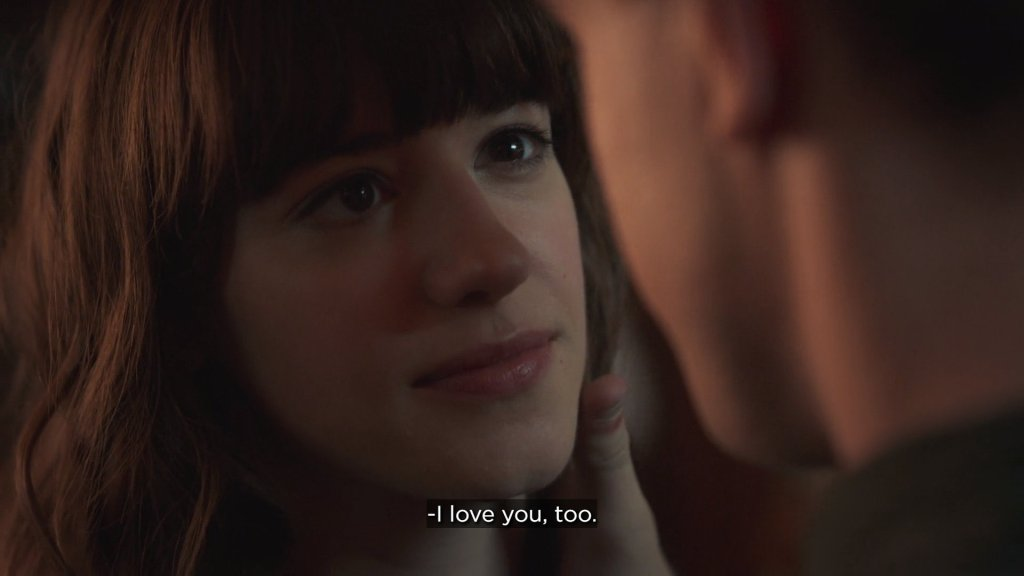 """Screenshot of Marianne telling Connell """"I love you too."""""""