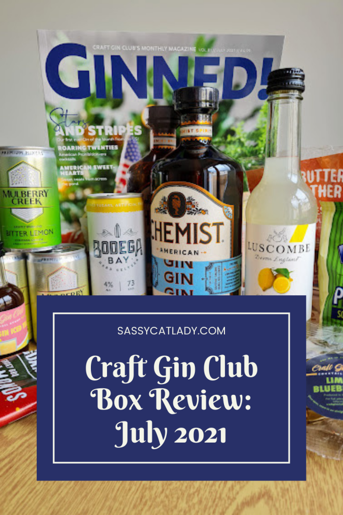 Craft Gin Club Review - July 2021 Pinterest graphic