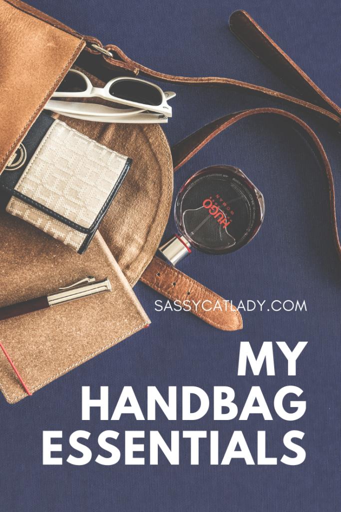 My Handbag Essentials Pinterest graphic