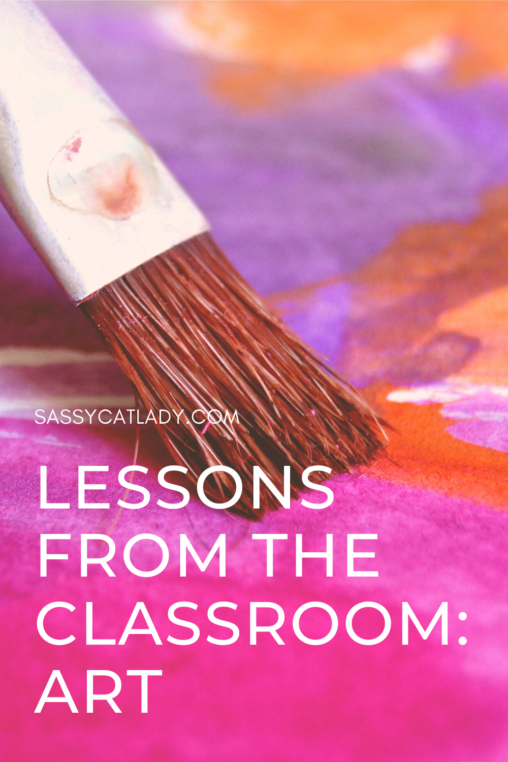 Lessons From the Classroom - Art Pinterest graphic