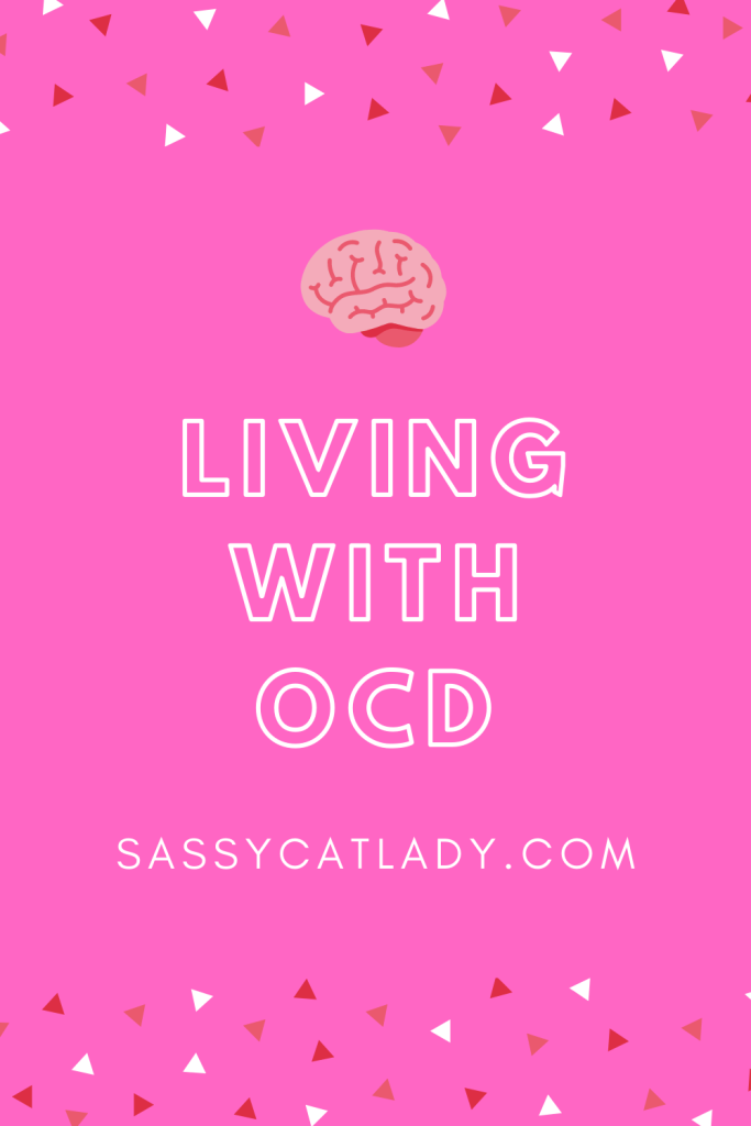 Living With OCD Pinterest graphic